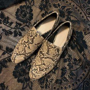 ZARA snake loafers NW/OT